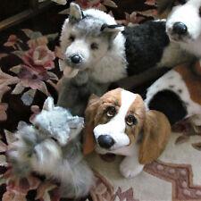 Yomiko 3- Vtg. Shepherd+Basset Hound+Schnauzer Dogs Displayed Fayzah Spanos Doll