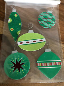 Target 🎄Christmas Ornament Decoration w/adhesive (3) Pkgs Of 5 Each ~ NEW