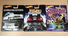 Hot Wheels Premium Ghostbusters Back To The Future Scooby-Doo Lot Of 3