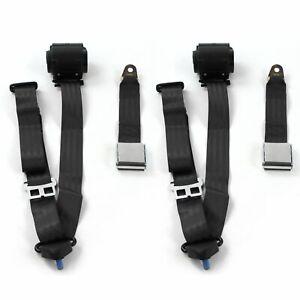 AMC Eagle 1979 - 1987 Airplane 3pt BK Retract Bucket Seat Belt Kit-2 Belts