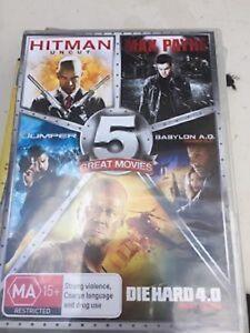 Hitman, Max Payne, Jumper, Die Hard 4.0, Babylon A.D 5 DVD Movie Pack