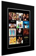 More details for mounted / framed print abba 12 albulm discography - different sizes  poster gift