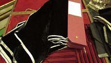 ancien velours de soie de gainage noir ecrin medaille coffret menagere 42x27cm