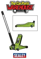 Sealey Trolley Jack 2 tonne LOW ENTRY Rocket Lift Hi Vis / Viz Green 2001LEHV
