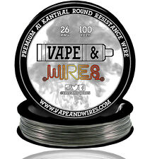 Vape and Wires Round Kanthal Resistance Wire 26 Gauge AWG A1 100ft Roll 0.40mm