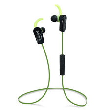 Wireless Bluetooth 4.1 + A2DP Earbud Stereo Headphones built-in Micphone(Green)