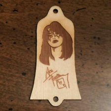GUITAR TRUSS ROD COVER - Wood Burned - Fits USA GIBSON -  ACE FREHLEY KISS