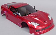 1/10 RC Car BODY Shell CHEVY CORVETTE 190mm  w/Light Buckets  RED -FINISHED-