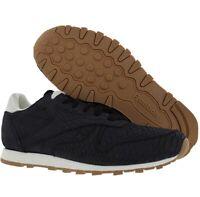 Reebok Classic CL Leather Clean Exotics Women's Shoe Black-Chalk V68796 9.5-10.5