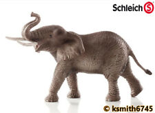 Schleich MALE AFRICAN ELEPHANT solid plastic toy wild zoo animal * NEW *💥