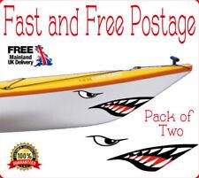 Kayak Sharks Teeth Stickers 2 Pack Canoe Sticker River Raft White Water Boating