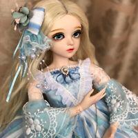 1/3 BJD Puppe 60cm Puppen Doll Mit Perücke + Schuhe + Kleidung + Haare + Augen