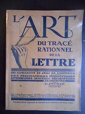 """""""Encyclopédie Roret - L'art du tracé rationnel de la lettre"""" D. Duvillé"""