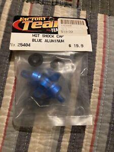 Team Associated MGT Blue Aluminum Shock Caps, qty 4 25404 NOS NIP