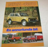 Ausgabe 1983 Prospekt Der Lada 2107 VAZ 2107 Broschüre
