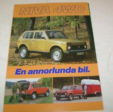 Prospekt / Broschüre Lada Niva 4WD - VAZ 2121