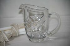 Fostoria Glass Water Pitcher Modern Giftware Straight Line X Pattern F in Circle