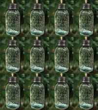 Christmas 2019 Unique Mini Mason Jar Ornaments with Removable Lids Set of 12