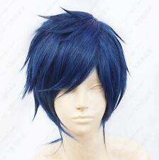452 Free! Rei Ryugazaki Short Blue Black mix Cosplay Wig Free shipping+wig cap