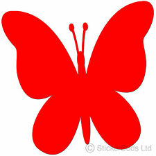36 RED BUTTERFLY STICKERS DECALS for Car | Wall | Home