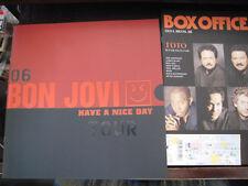 Bon Jovi 2006 Japan Tour Book Concert Program w Ticket Sambora Have A Nice Day