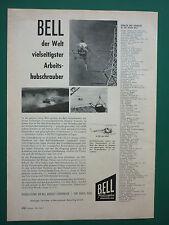 7/1958 PUB BELL HELICOPTER HUBSCHRAUBER H-13H USAF ORIGINAL GERMAN AD