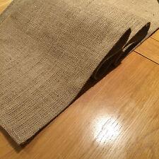Rustic Hessian Table Runner/Long Mat, Hemmed, 89cm x 35cm, NEW