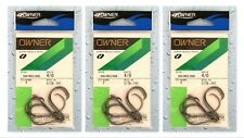 (3) Packs Owner Super Needle Point SSW Circle Hooks 4/0 Hook 5178-141 Brand New