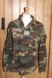 "38"" Original Italian Army Combat Shirt Vintage Camo Camouflage Military Jacket"