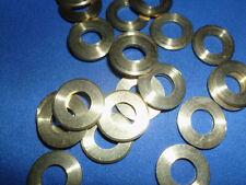 25 Unterlegscheiben Messing 0,82 innen  1,8 mm dick  17 mm außen  DIN 125 -8-