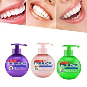 Intensive Stain Removal Teeth Whitening Toothpaste Fight Bleeding Gums Press