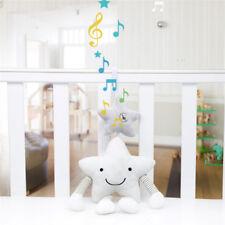 Infant Baby Rattles Plush Star Stroller Pram Bed Music Hanging Bell Toy Gift GA