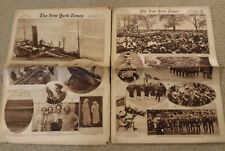 The New York Times Rotogravure Picture Section In Two Parts Sunday June 9, 1918
