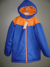 NWT THE NORTH FACE BOYS COAT BALLO JACKET size L 14 / 16 BLUE ORANGE REVERSIBLE