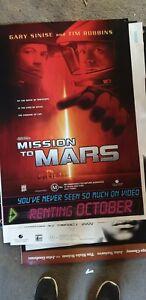 MISSION TO MARS   original 1 sheet  movie poster   VIDEO SHOP