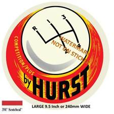 VINTAGE HURST FLOOR SHIFT Decal Sticker Car Retro  9 INCH DIA 230 MM HOT ROD