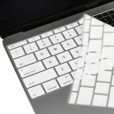 """White Keyboard Cover Silicone Skin for New Macbook 12"""" with Retina Model A1534"""