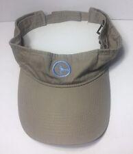 Blue Whale Port & Company Visor Cap Hat Beige Tan Adjustable100% Cotton