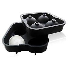 nero 1 set di 2 stampi a forma di sfera in plastica cubetti di ghiaccio per R1B2