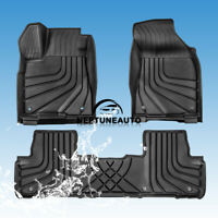 2 x Front & 1 x Rear TPE Floor Mats Liners For 14-19 Toyota Highlander (5 Seats)