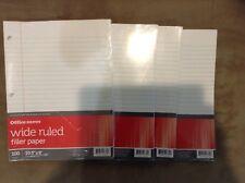 Filler Paper, Wide Ruled, Loose Leaf Paper, 4@100 Sheets/Pks, Back 2 School