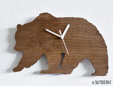 Bear Silhouette - Wooden Wall Clock