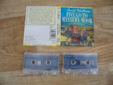 Enid Blyton - Five Go To Mystery Moor (2 Audio Cassettes) Sarah Greene (VGC)
