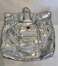 Beirn Silver Snakeskin Large Tote Nwot