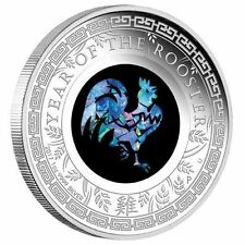 Australia Opal Series Lunar Year of the Rooster 2017 1oz Silver Proof $1 Coin