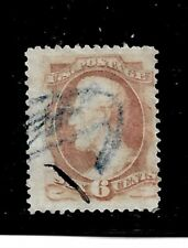 US Stamp- Scott # 186/A47a-6c-Fancy Cancel/VLH-1879-NG- Perf. 12-No Grill