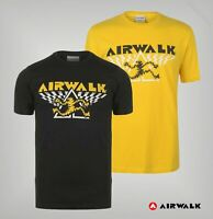 Mens Airwalk Ribbed Crew Short Sleeves Running Man T Shirt Sizes from S to XL