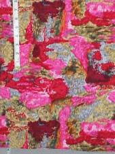 fabric vintage pink green red watercolor look 3 1/2 yards cotton