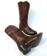 Frye Women's Boots Melissa Pull On Western Brown Leather 3471447 Size 8 New 4003