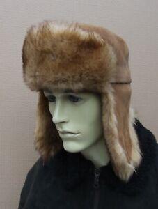 Vintage WIGENS REAL SHEEPSKIN  ushanka  trapper  FUR  hat size:M 56 / 57cm